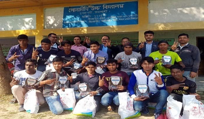 অনূর্ধ্ব-১৭ ফুটবল চ্যাম্পিয়ন দলকে প্রাণ-এর সংবর্ধনা
