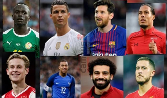 ফিফার বর্ষসেরা ফুটবলারের তালিকায় যারা...