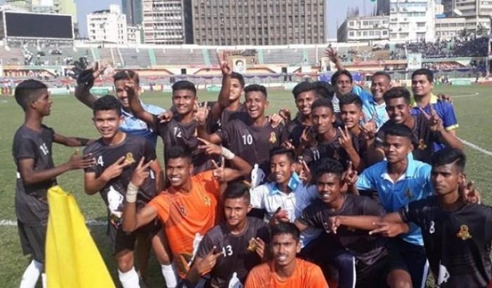 বঙ্গবন্ধু অনূর্ধ্ব-১৭ গোল্ডকাপ: বরিশাল ফুটবলে চ্যাম্পিয়ন