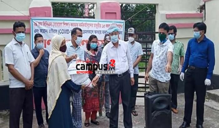 কুমিল্লায় অসহায়দের পাশে শিক্ষকরা