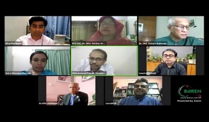 খুবির নিউজ পোর্টাল 'অদম্য বাংলা' উদ্বোধন