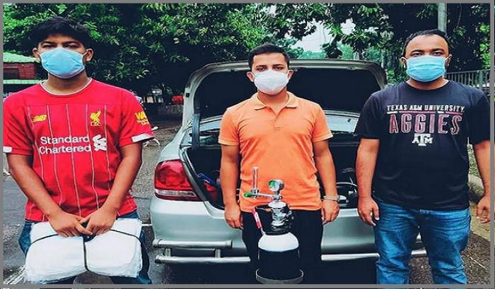 জয় বাংলা অক্সিজেন সেবা: দুই হাজার মানুষের দোরগোড়ায় ছাত্রলীগ