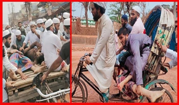 হাটহাজারীতে থানা ঘেরাও, গুলিতে ৫ শিক্ষার্থী আহত