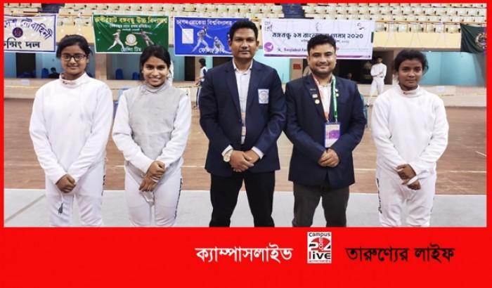 বাংলাদেশ গেমসে বেরোবি ফেন্সিং ক্লাবের ব্রোঞ্জ পদক অর্জন