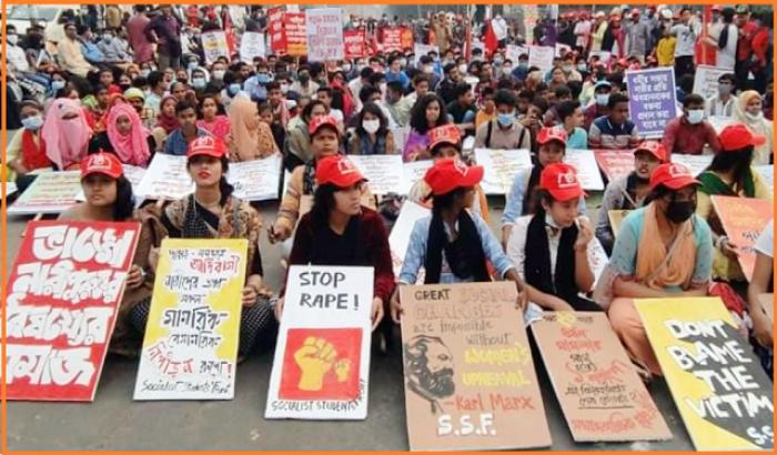 ''ধর্ষণ ও নিপীড়নের বিরুদ্ধে সরকার কথা বলবে না''