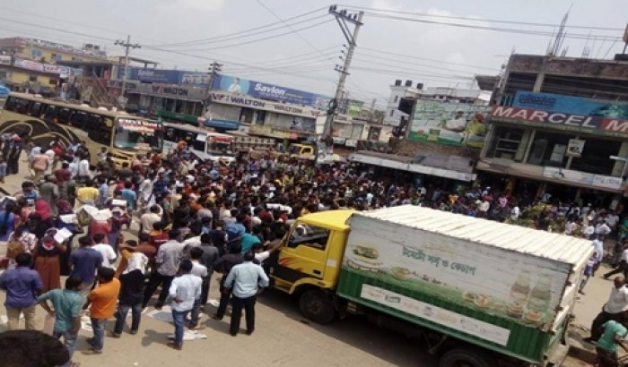 কোটা সংস্কার: অবরুদ্ধ ঢাকা-ময়মনসিংহ মহাসড়ক