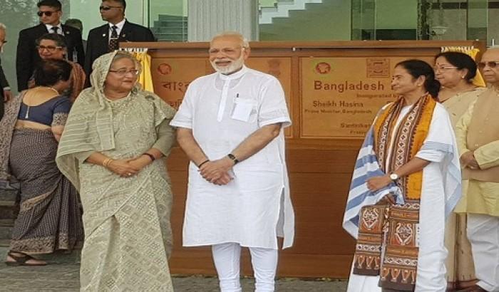 'বাংলাদেশ ভবন' উদ্বোধন করলেন হাসিনা ও মোদী