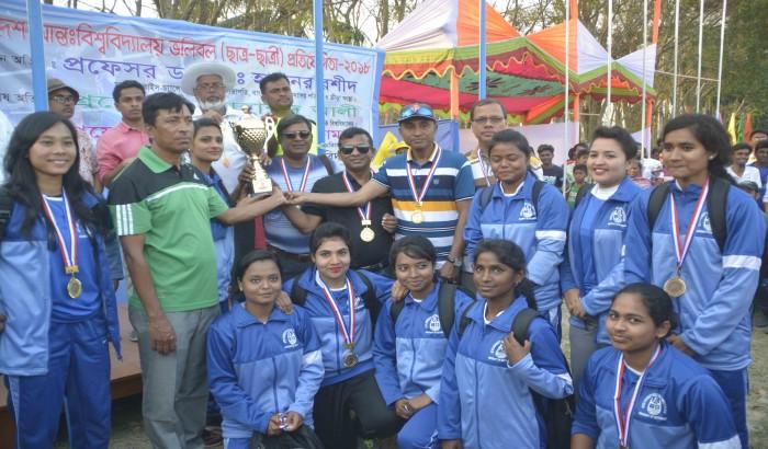 পবিপ্রবিতে আন্ত:বিশ্ববিদ্যালয় ভলিবল প্রতিযোগিতা
