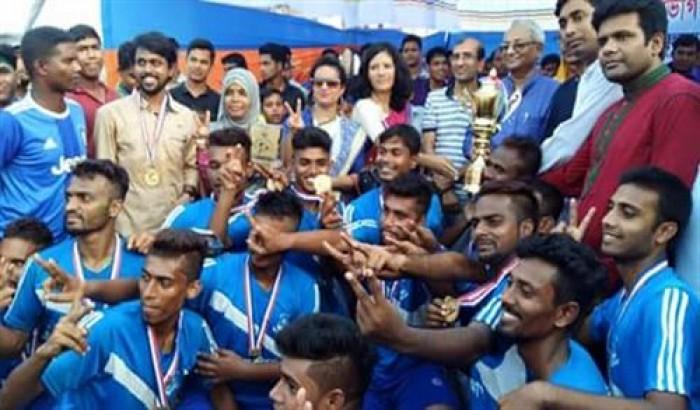 ববি আন্তঃবিভাগ ফুটবল প্রতিযোগিতায় চ্যাম্পিয়ন বাংলা বিভাগ